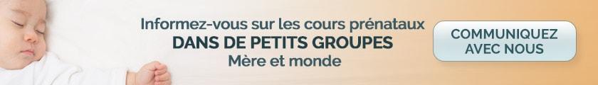 cours prénataux petit groupe Montréal